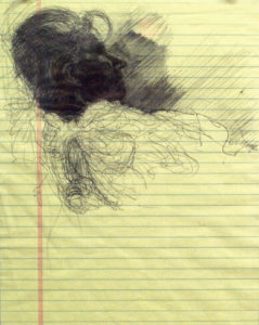 Untitled. Ballpoint on Legal Paper. 2011